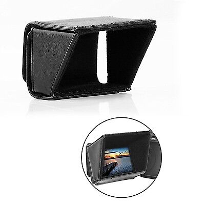 """3"""" LCD Screen Sun Shield for DSLR Cameras Camcorders Compatible with Canon Nikon"""