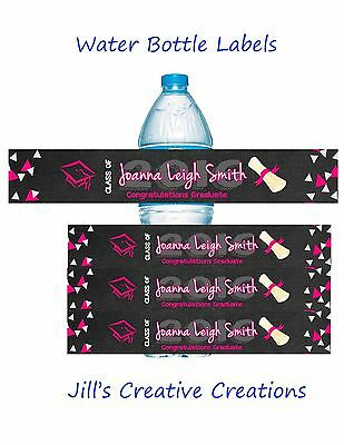 Graduation  Water Bottle Labels, Graduation, Water Bottle Labels