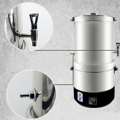 MT 220V Stainless Steel Homebrew Stockpot Boil Kettle Mash Tun Beer Wine Brewing