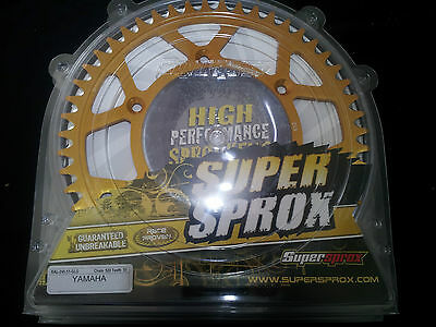 SUPERSPROX MX YAMAHA ALLOY REAR SPROCKET 51 Teeth (51T) YZ125 YZ250 YZ400