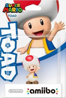 Amiibo Character Toad W4  - Brand New
