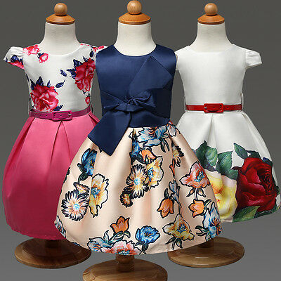 Kid Girl Baby Art Flower Pageant Party Prom Formal Occasion Wedding Summer Dress