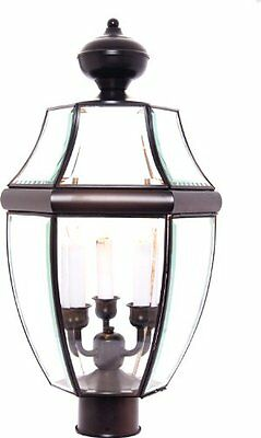6098 South Park Outdoor Pole/Post Mount Lantern, Burnished Finish, 12 by 23.5-""