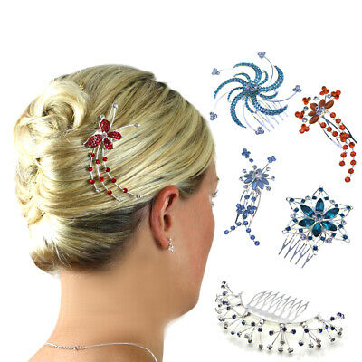 Hair Combs Bridesmaid Accessories Girls Crystal Prom Slides Clips Head Pieces UK