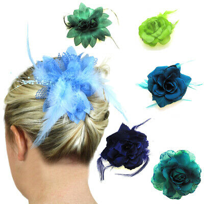 Hair Fascinators Flowers Wedding Accessories Ladies Bridal Head Pieces Clips UK