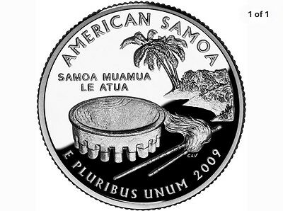 uncirculated/proof 2009-S American Samoa State Washington Quarter