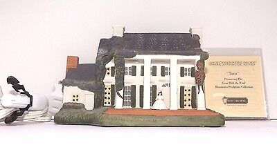 "Gone With the Wind Hawthorne Village Lighted House ""Tara""  Box & Deed Included"