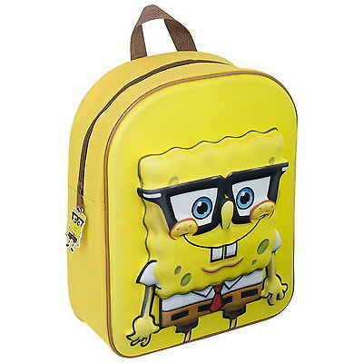 NEW OFFICIAL SpongeBob SquarePants Boys Kids 3D EVA Backpack Rucksack School Bag