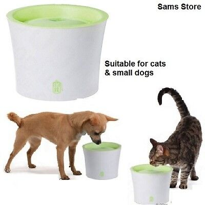 Cat Fresh Water Drinking Fountain Small Dogs 3 Litre Capacity with Dual Filter
