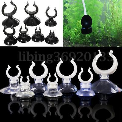 10X Suckers Suction Cup Clip Aquarium Air Tubing Heater Water Filter Pipe 5-30mm