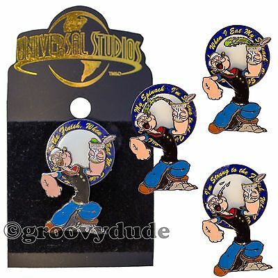 Popeye The Sailor Man Spinach Spinner Lapel Hat Pin Universal Studios Florida FL