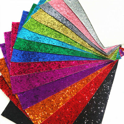 Ultra Sparkly Chunky Glitter Fabric Vinyl Crafts Bow Material Roll A4/A5 Sheet