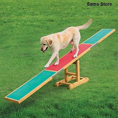 Dog Agility Seesaw Training Equipment Outdoor Balance Weather Resistant Exercise