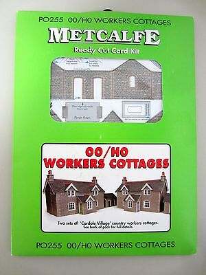 *NEW* Metcalfe WORKERS COTTAGES PO255 Ready Cut Card Kit OO/HO Scale