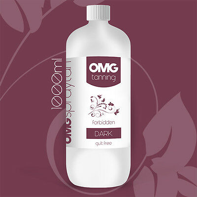 OMG Tanning Solution - 1000ml 'Forbidden' Dark Sunless Spray Tan Liquid 1 Litre