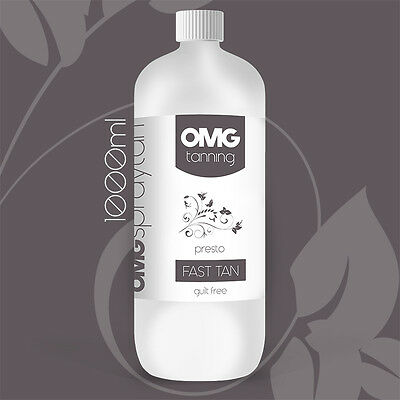 OMG Tanning Solution - 1000ml 'Presto' Rapid 60 min Spray Tan Liquid - 1 Litre