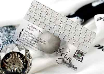 Expedit 500 PVC Plastic Business Cards Printing -Texture Translucent & White Ink