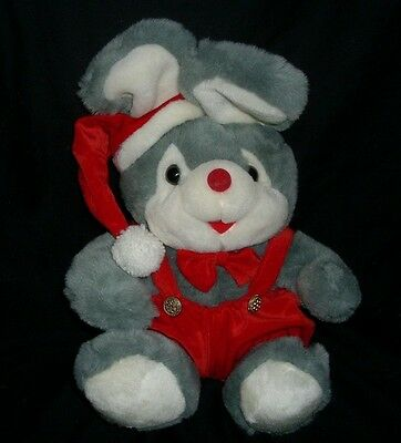 Vintage Angel Toy Musical Light Up Christmas Gray Mouse Stuffed