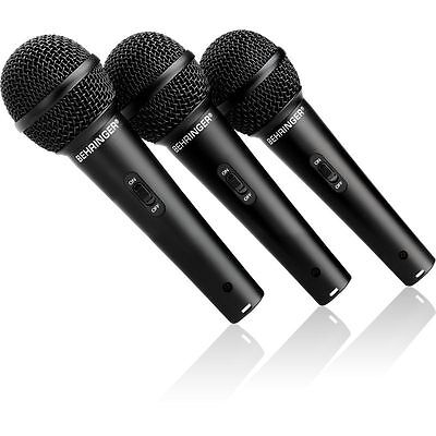 Behringer UltraVoice XM1800S Dynamic Cardioid Vocal Microphones (Set of 3)