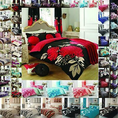Duvet Cover Set With Pillow Case King Size Double Super Single Designed Printed