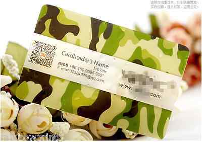 200 Custom PVC Plastic Business Cards Printing - Frosted Transparent Round Corne