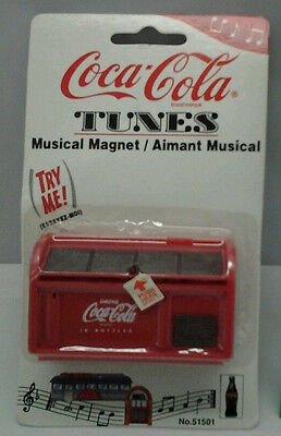 1997 Coca-Cola Collectable Musical Magnet Drink Cooler