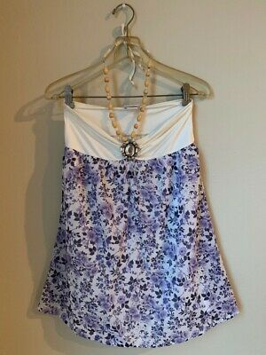 85ec71c997cd9 BEACH BUNNY COVER UP RHINESTONE CRYSTALS Floral Dress white lavender ...