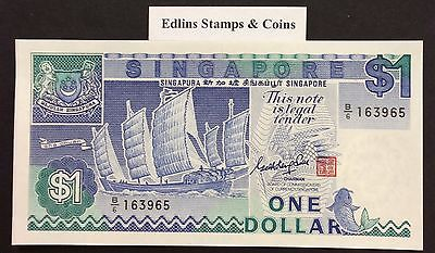 1987 $1 Singapore Banknote - Uncirculated - Pick 18A - B/6 163965