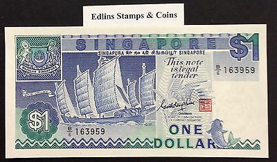 1987 $1 Singapore Banknote - Uncirculated - Pick 18A - B/6 163959