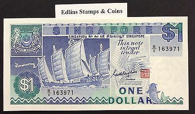 1987 $1 Singapore Banknote - Uncirculated - Pick 18A - B/6 163971