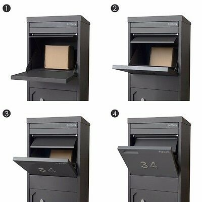 LIMITED QTY A4 Monument PARCEL DROPBOX With LETTER COMPARTMENT Pillar Mailbox