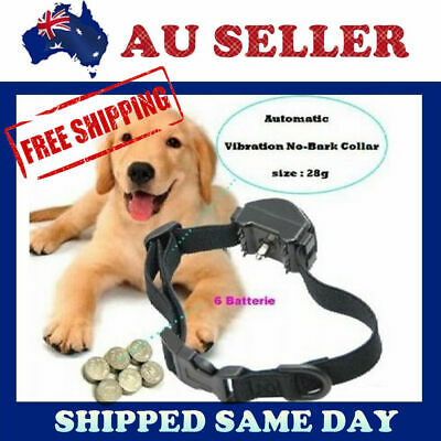 New VIBRATION Automatic Dog Collar Anti Bark Stop Barking Safe Training NO SHOCK