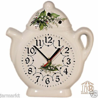 Wall clock for the kitchen Kitchen clock Ceramic Watch in Country house style