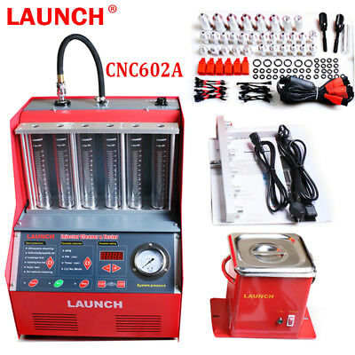 Original LAUNCH Automotive CNC602A Car Fuel Injector Ultrasonic Cleaner Tester