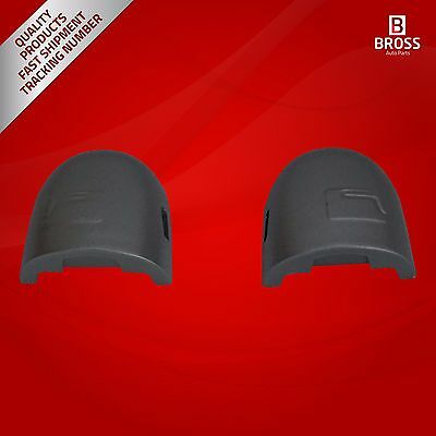 2X Door Handle Key Hole Cover Cap:8200036411 LEFT and RIGHT Silver for Renault