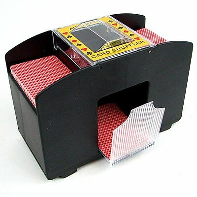 Jobar Automatic Card Shuffler Machine 2 Decks Of Playing Cards Black JCA481 New