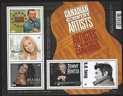 Canada # 2765 Canadian Contry Artists MNH, J122