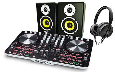 Reloop DJ Pack w/ Serato DJ Intro, DJ Controller, Headphones & Studio Monitors