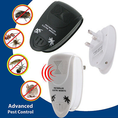 Plug-In Ultrasonic Pest Insect Mouse Fly Controller Repeller 540-860 Square Feet