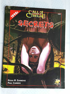 Secrets Call of cthulhu CoC horror RPG roleplaying lovecraft
