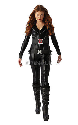 Adult Super Sexy Marvel Avengers Black Widow Ladies Fancy Dress Costume Outfit