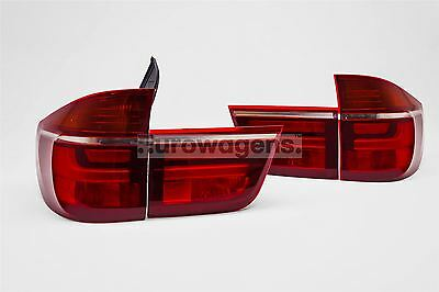 BMW X5 E70 07-10 LED Red Clear Rear Tail Lights Lamp Set Pair Left Right Upgrade