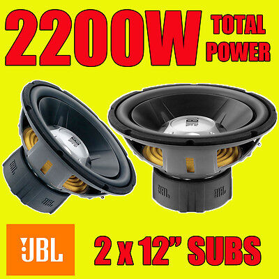 """JBL DOUBLE 12"""" 30cm 2200W CAR BASS SUBS SUBWOOFERS 4 OHM BRAND NEW"""