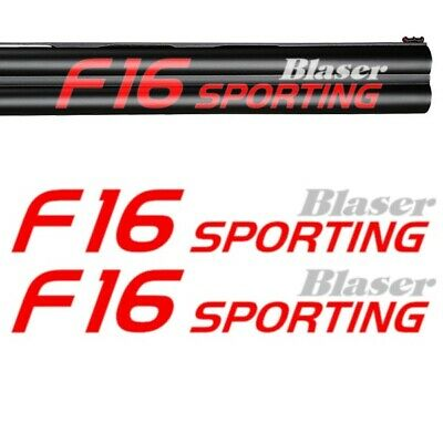 2x BLASER F16 SPORTING Vinyl Decal Sticker. 3 sizes. Available in several colors