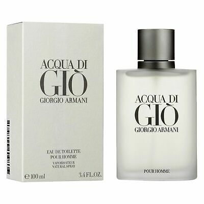 Acqua Di Gio Pour Homme 200Ml Edt Spray By Giorgio Armani For Men's Perfume New