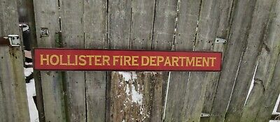 Custom Fire Department Wood Sign Hand Painted  Vintage Style 4Ft X 5 1/2""