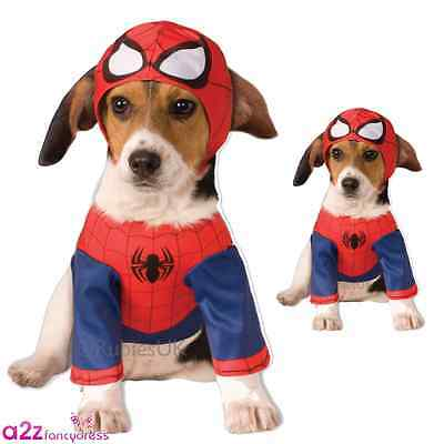 Spiderman Spider-Man Dog Pet Puppy Superhero Cosplay Novelty Costume Outfit
