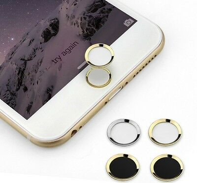 Metal Aluminum Touch ID Home Button Sticker For Iphone 4,5,6 6 Plus Ipod Ipad