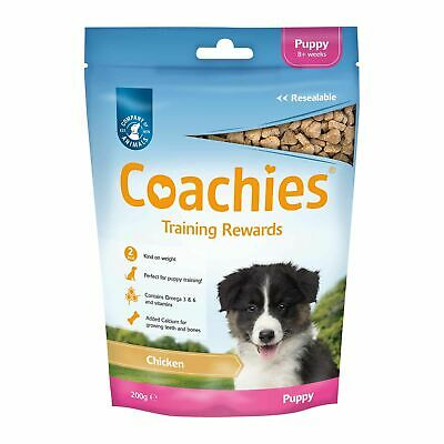 Coachies Dog & Puppy Training Treats, Chews For Puppies 75g Bag