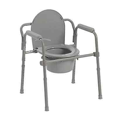 Heavy Duty Adult Bedside Commode Chair Seat Safety Toilet Bathroom Fold New